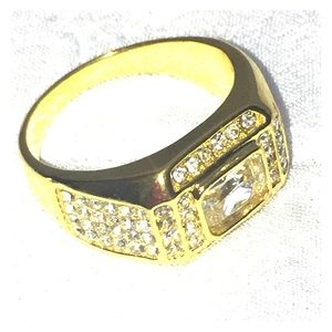 Other - Mens new jeweled ring size 10